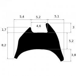 joint de vitrage à bourrer pour jeu de 6 à 8 mm
