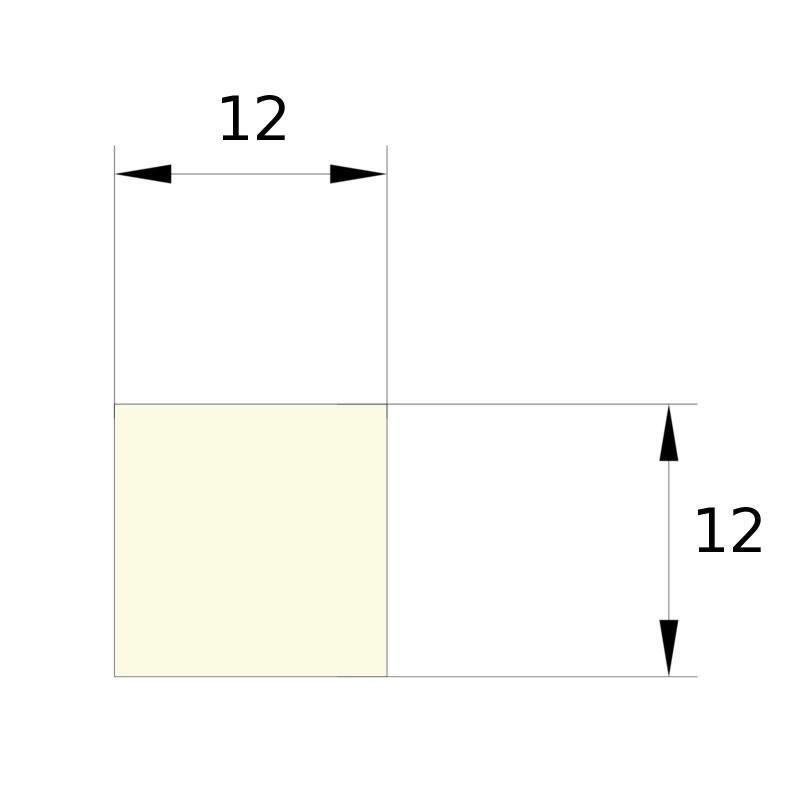 BANDE CARRE DE 12 X 12 MM