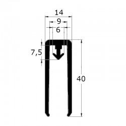 EP 7010 - Joint de toiture de véranda 40 mm - lg 25m