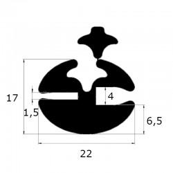 Joint de pare brise à clé ouverture 1,5 et 4 mm