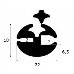 Joint de pare brise à clé ouverture 2 et 5 mm
