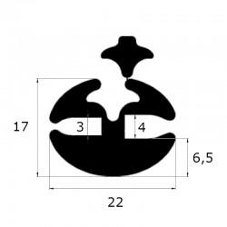 Joint de pare brise à clé ouverture 3 et 4 mm