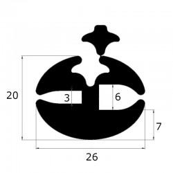 Joint de pare brise à clé ouverture 3 et 6 mm