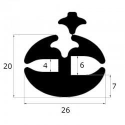 Joint de pare brise à clé ouverture 4 et 6 mm