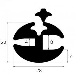 Joint de pare brise à clé ouverture 4 et 8 mm