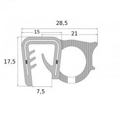 joint d'étanchéité pour support de 5 à 9 mm