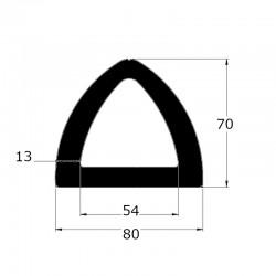 ep8404 - Profil butoir en forme delta 80 x 70 mm - lg 10m