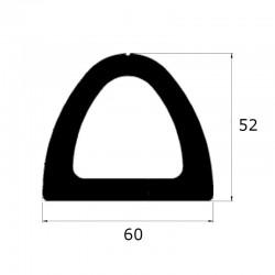 ep8403 - Profil butoir en forme delta 60 x 52 mm - lg 10m