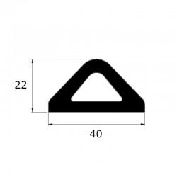 Butoir anti-choc delta noir 40 x 22 mm