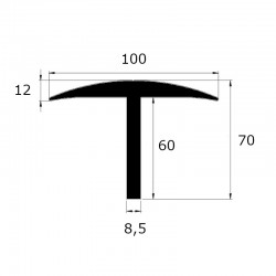 Protection pont bascule épaisseur 8,5 mm