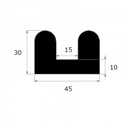 ep8405 - Profil butoir 30 x...