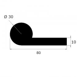 EP 1515 - Joint note de musique pleine ø30mm - lg 25m