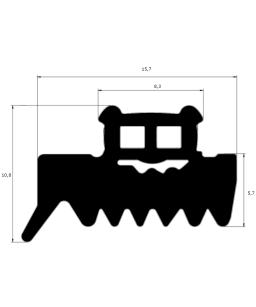 EP 7031 - Profil serreur de plaque  - lg 25m