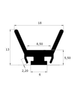 ep7015- Joint d'étanchéité menuiserie alu - lg 25 m